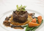 Beef fillet on rosti potato with maderia and mushroom sauce