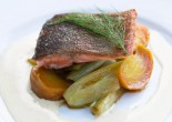 Pan Fried Trout with orange beurre blanc